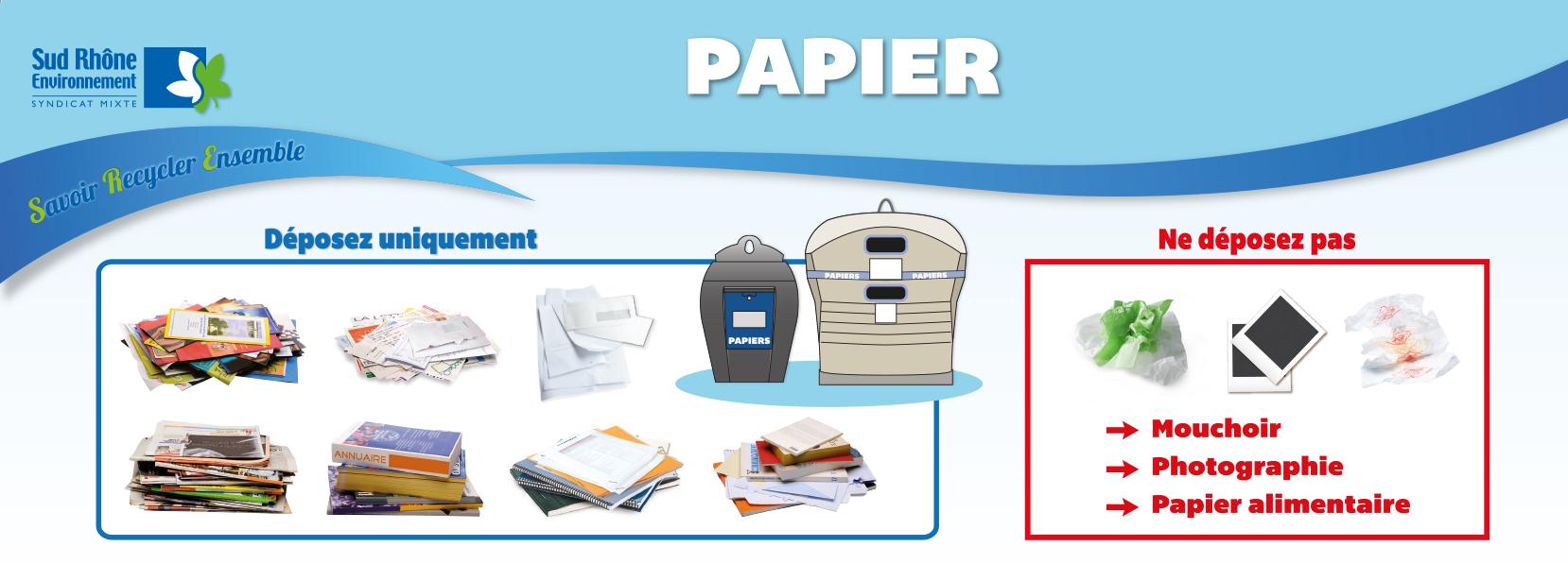 consignes papier sud rhone environnement